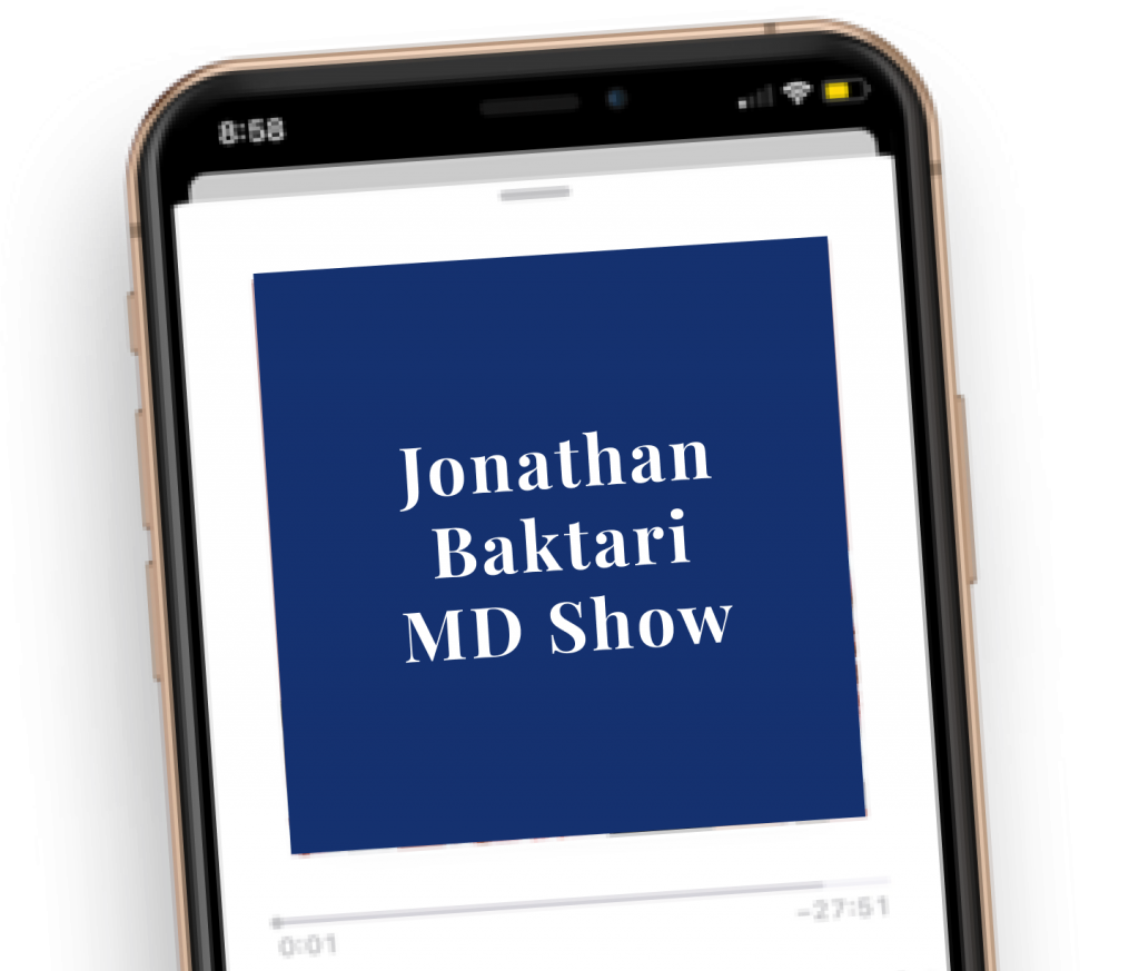 Jonathan Baktari MD show podcast mock up