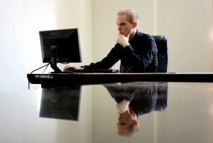 doctorpreneur working at computer